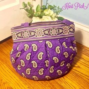 🎉HP🎉 Vera Bradley purple paisley quilted purse!